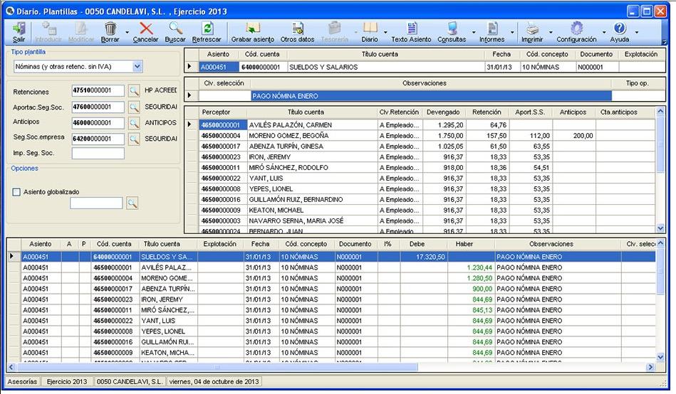 Asesoría contable: uso de la cuenta 555 para pagos cuyo origen se desconoce